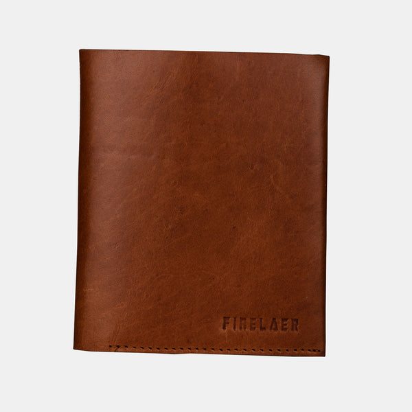 Finelaer Men Brown Leather Compact Billfold RFID Wallet