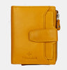 Finelaer Women Yellow Leather Small Zip Purse Wallet