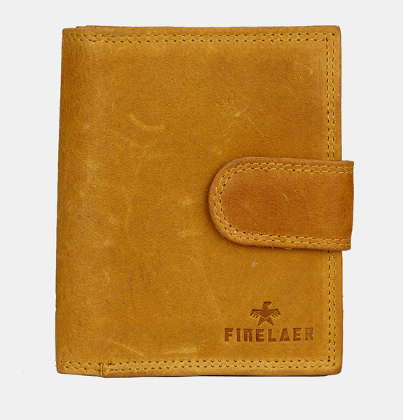 Finelaer Women Mustard Leather Compact Purse Wallet