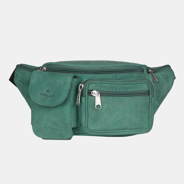 Finelaer Leather Travel Waist Pack