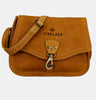 Finelaer Women Vintage Leather Saddle Crossbody Bag