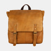 Finelaer Vintage Mustard Leather Travel Laptop Backpack