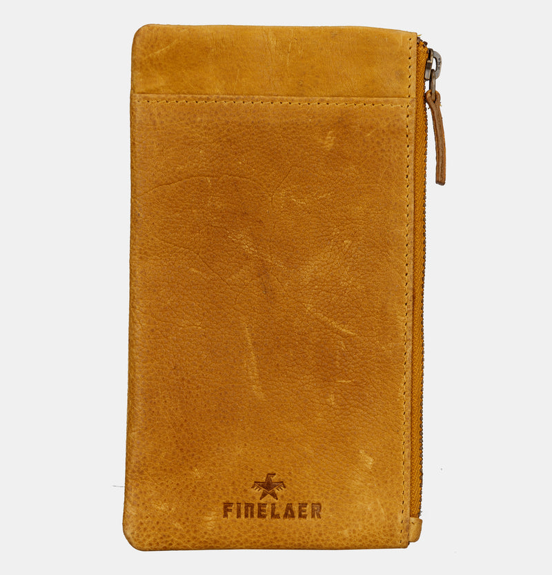 Soft Leather iPhone 7/8 Plus Mobile Case Wallet Mustard | Finelaer