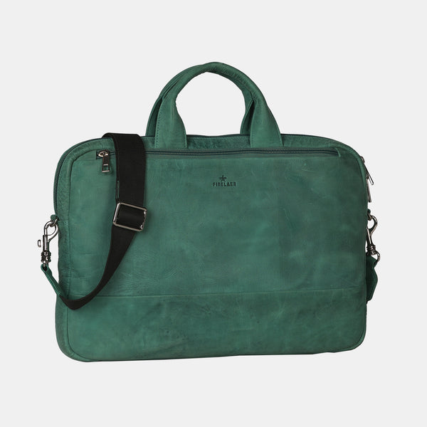 Leather Laptop Messenger Bag | Finelaer