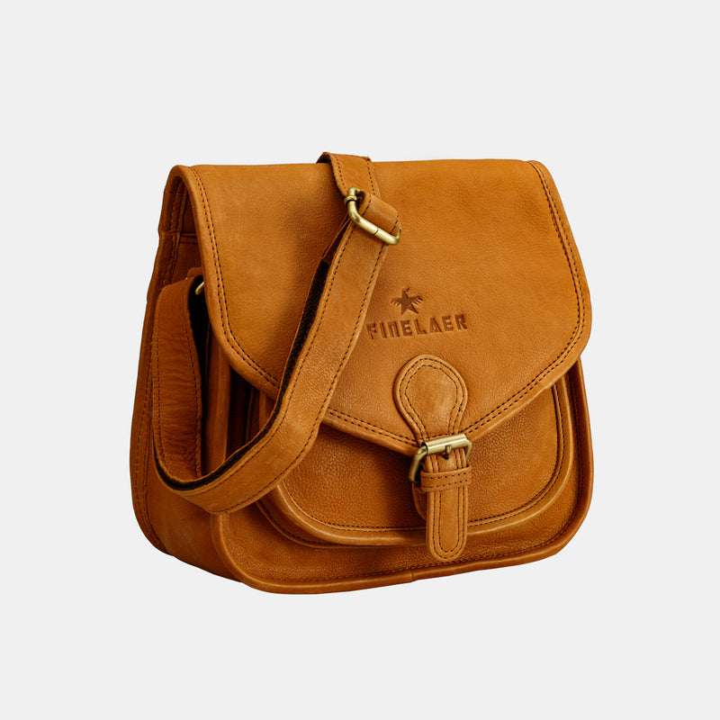 Women Vintage Leather Saddle Crossbody Bag | Finelaer