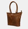 Finelaer Women Shopper Brown Leather Large Tote Handbag
