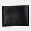 Finelaer Men Black Leather Slim Billfold RFID Wallet