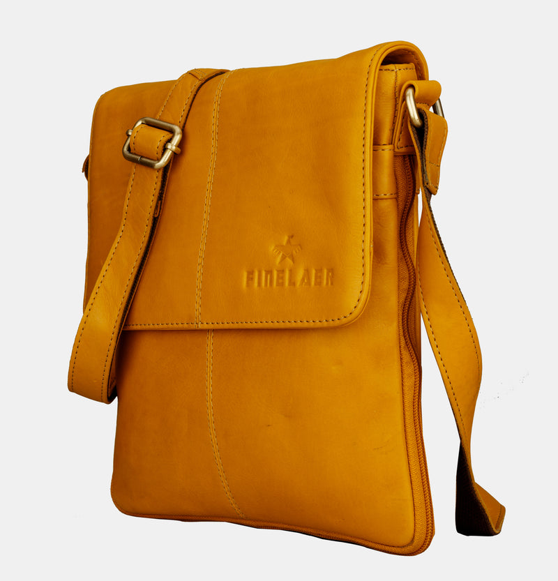 Women Vintage Soft Leather Crossbody Shoulder Bag | Finelaer