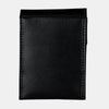 Finelaer Women Black Leather Front Pocket Card Wallet