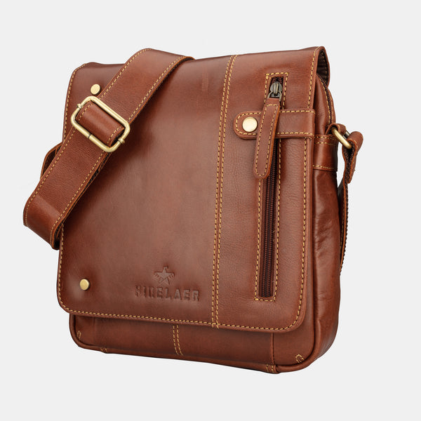 Women's Brown Soft Leather Crossbody Shoulder Bag | Finelaer