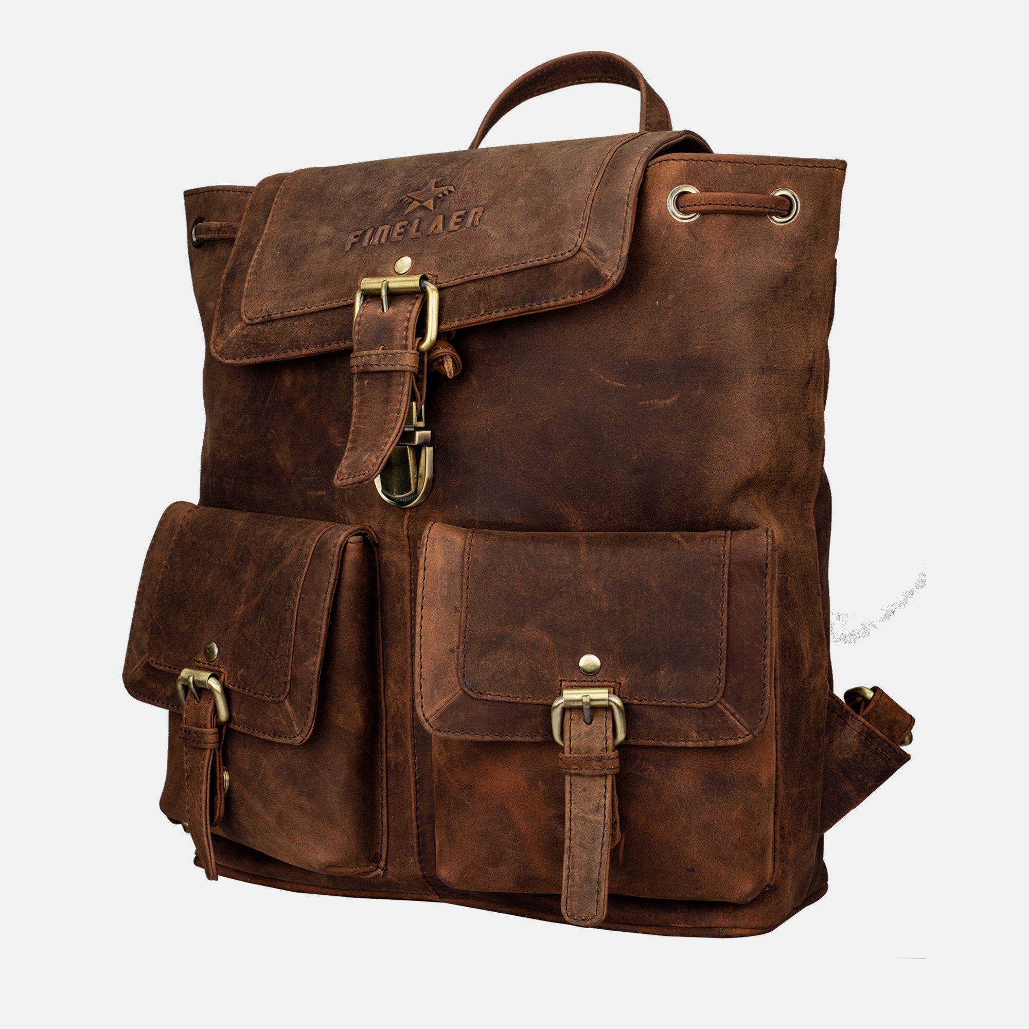 Shop Exclusive Vintage Leather Backpack  2b7093c7a456c
