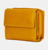 Finelaer Women Yellow Leather Small Clutch Purse Wallet