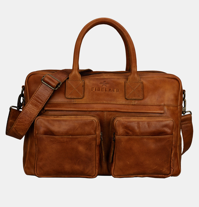 Men's Expandable 15.6 inch Brown Laptop Briefcase | Finelaer