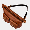 Women Casual Leather Crossbody Bag Brown | Finelaer