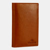 Finelaer Men Brown Leather Coat Bifold Long Wallet
