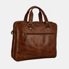 Finelaer Men Brown Leather 13.5 inch Laptop Bag Brown
