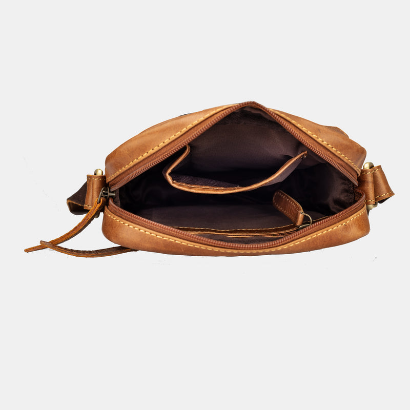 Leather Crossbody Sling Shoulder Bag for Women by Finelaer