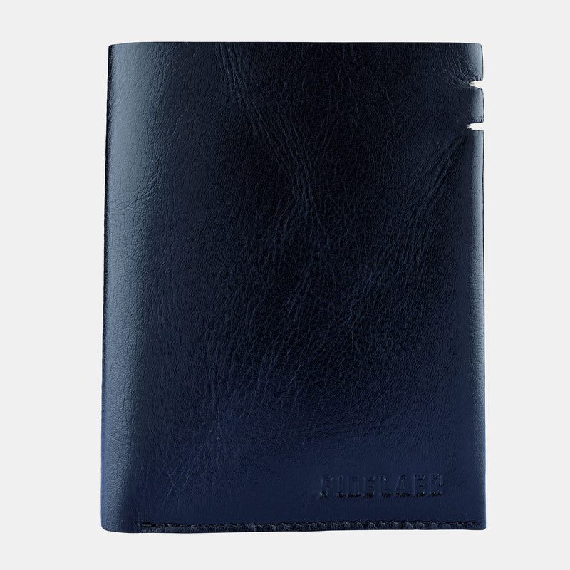 Men Black Leather Compact Billfold RFID Wallet | Finelaer