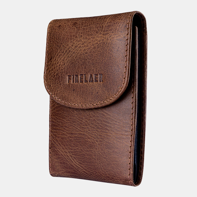 Mens Genuine Leather  Credit Card Wallet Holder Business Card Case Black | Finelaer