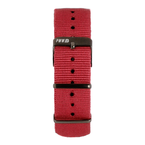 Signature NATO Strap 20mm - Burgundy