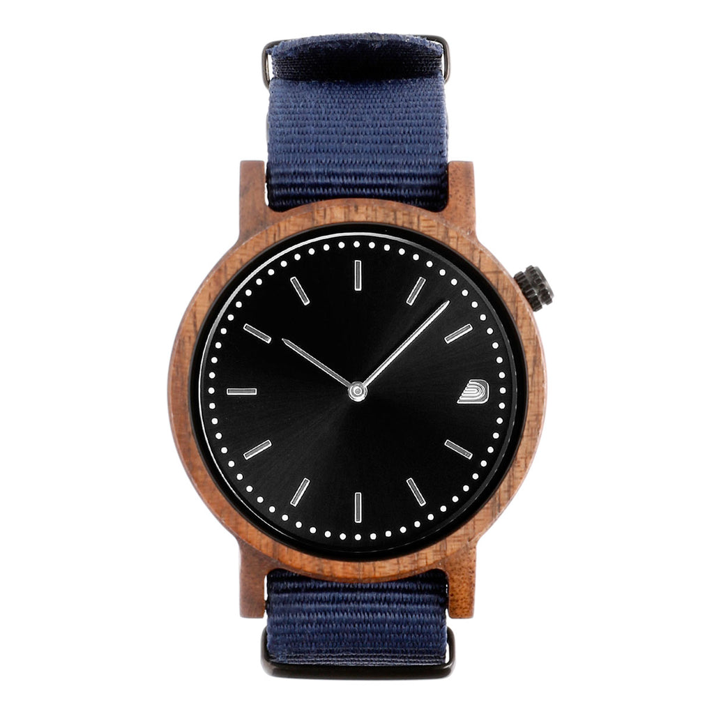 [Prime] 1.1.1 Walnut Wood- 42mm Navy Blue