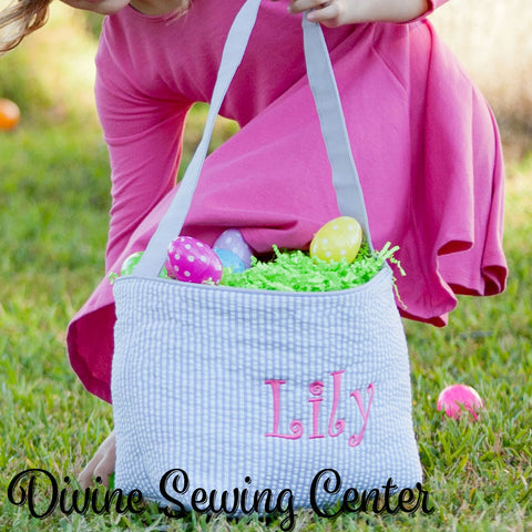 Monogrammed easter baskets personalized easter totes 8 colors monogrammed easter basket girls and boys personalized easter basket 6 basket choices available negle Images