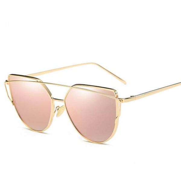 Essential Chic Reflective Cat Eye Sunglasses Rose Gold **4 LEFT**