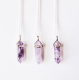Amethyst Quartz Crystal Necklace