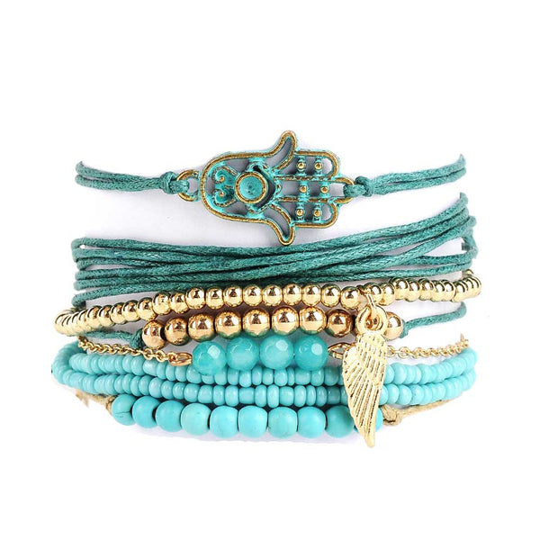 Yoga Girl Turquoise Beads Bracelets