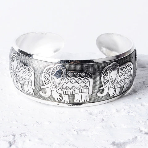 Lucky Elephant Boho Antique Bangle