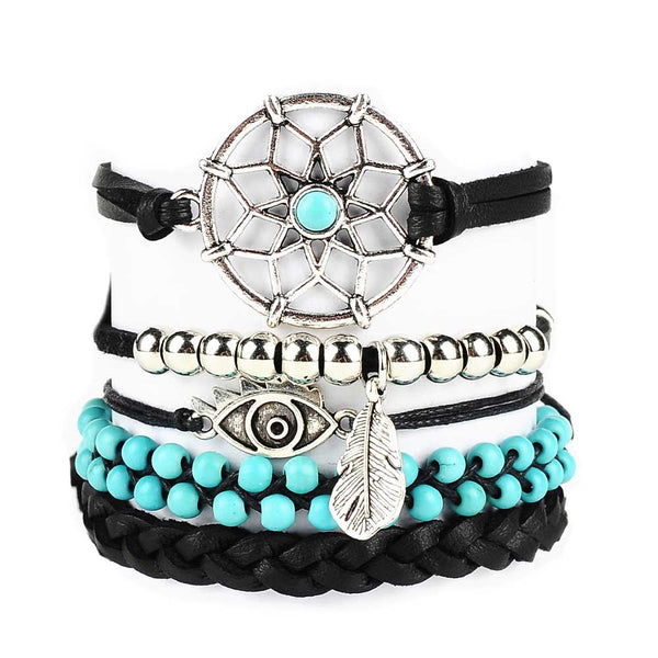 Dream Catcher Turquoise Bracelet Set