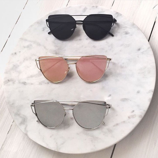 Essential Chic Reflective Cat Eye Sunglasses
