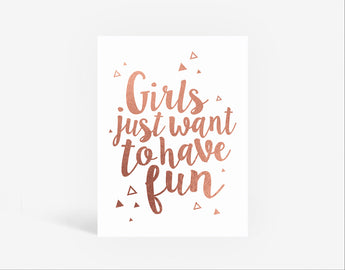 Girls Only Foil Print