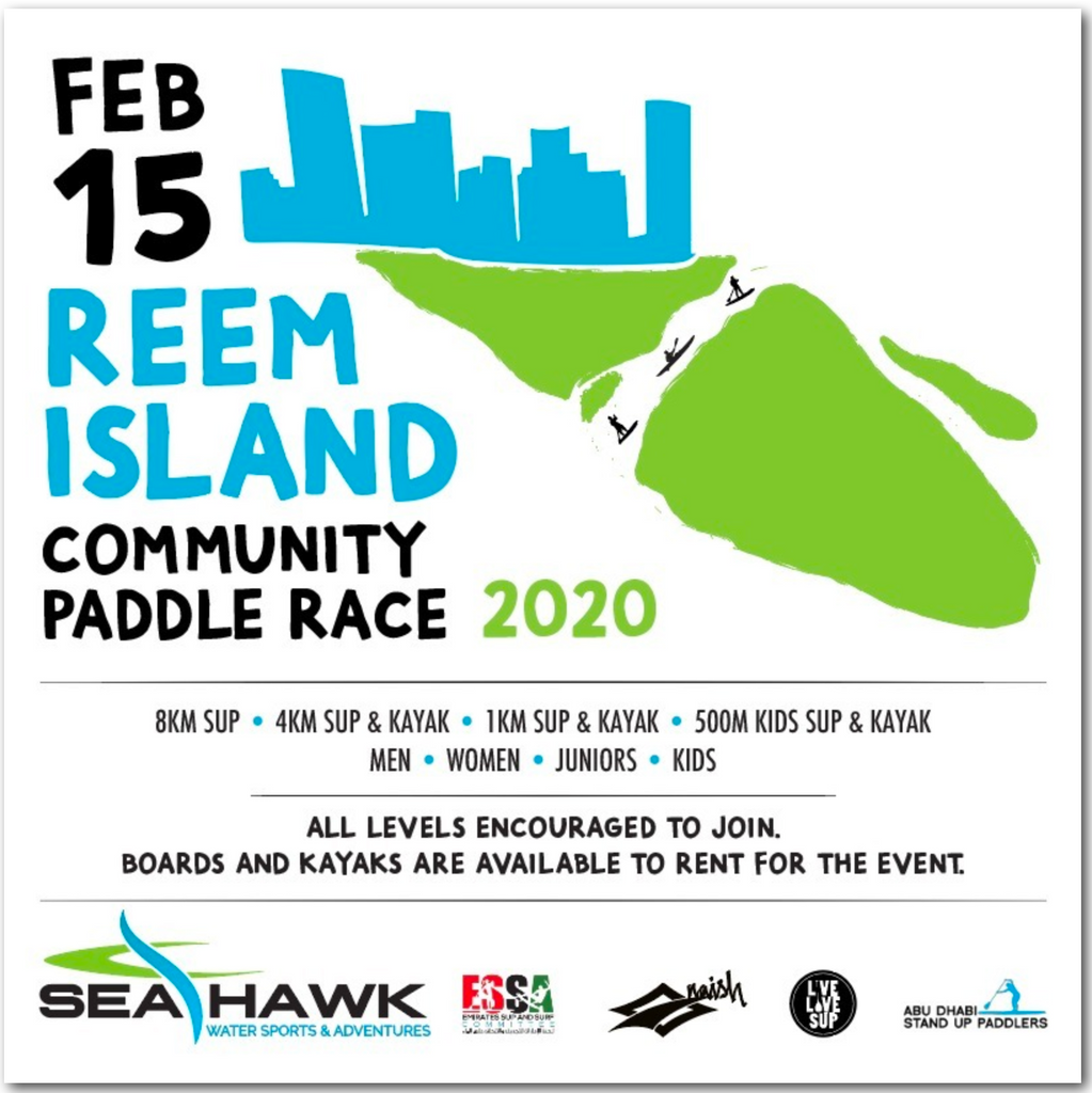 REEM ISLAND COMMUNITY PADDLE RACE (SUP & KAYAK) SATURDAY 15TH FEB, 2020