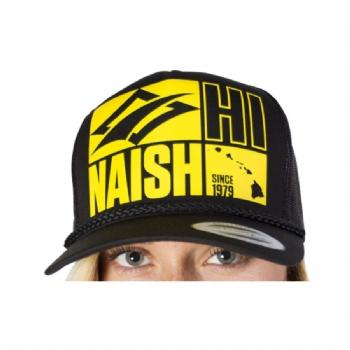 Naish Black Trucker Hat Mk 1 - Soft Tech - Naish - KiteSurfSUPUAE