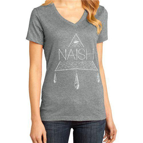 Naish Boho Triangle V-Neck - Heathered Grey - Soft Tech - Naish - KiteSurfSUPUAE