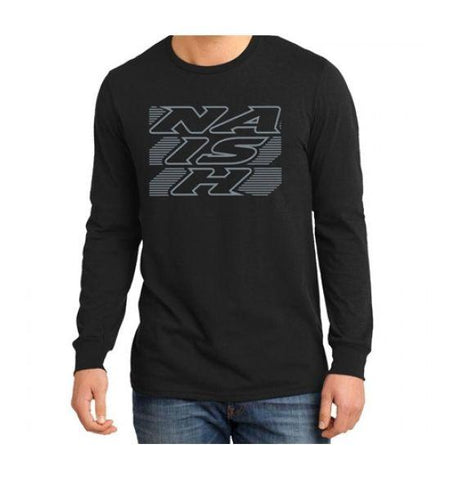 Naish Logo Stripe Long Sleeve - Black - Soft Tech - Naish - KiteSurfSUPUAE