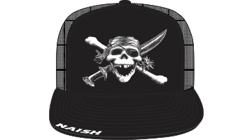 Naish Skull Trucker Cap-Black
