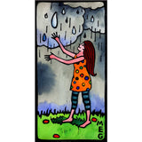 Digital Fine Art Prints - Bold Souls -  Girl Welcoming Rain  - Tangerine Meg Gallery Shop - 8