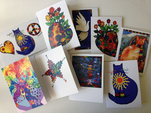 Serendipity Pack of 10 Greeting Cards -    - Tangerine Meg Gallery Shop