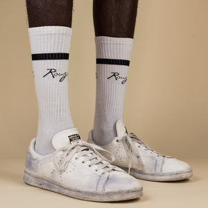 Socks - white/black