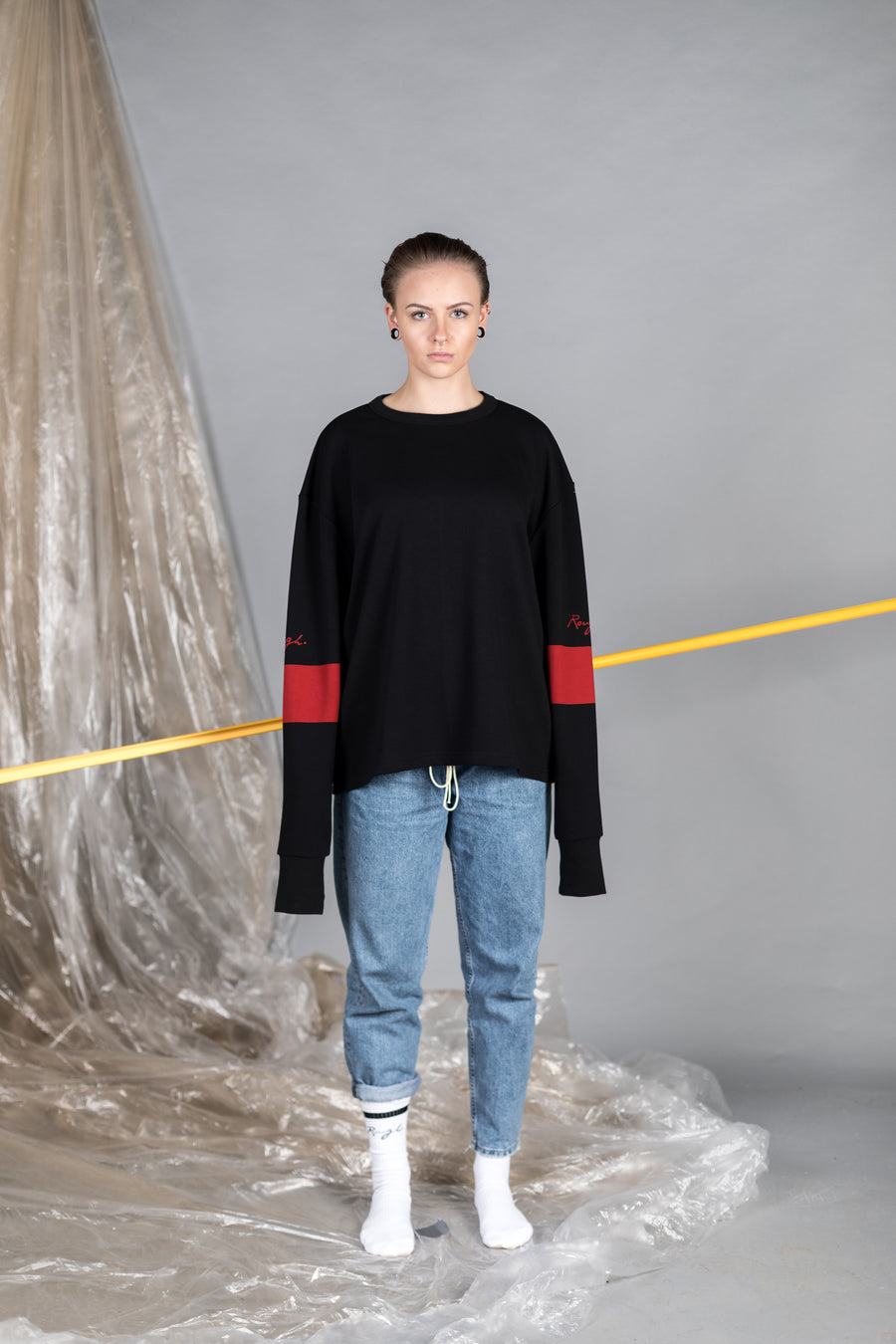 Sweater black - Tape