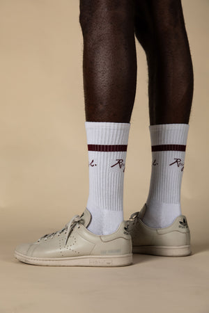 Socks - white/rhodo