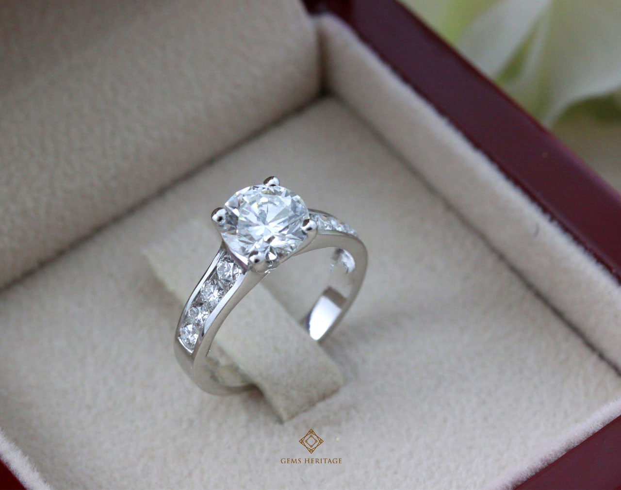 1.6 cts middle stone Diamond Ring