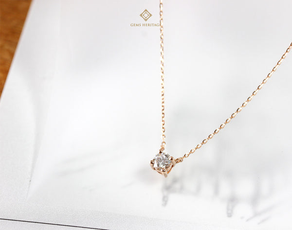 0.30 cts diamond pendant with necklace