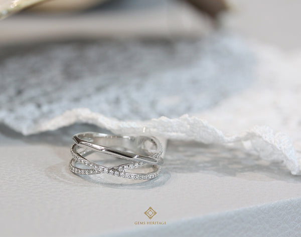 Line Diamond Ring