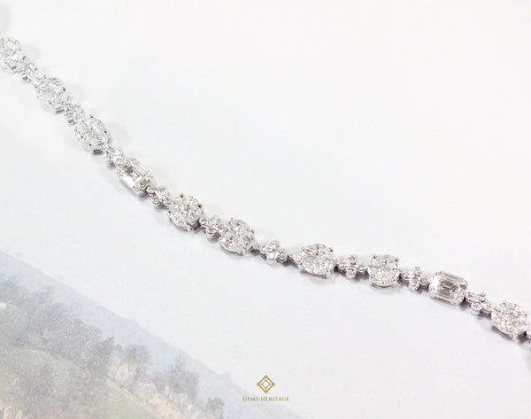 Fancy eternity Diamond Bracelet