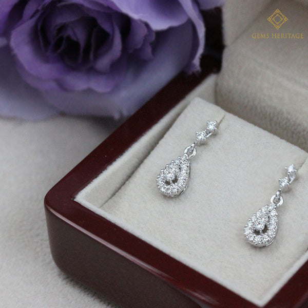 Sweet drop diamond earrings