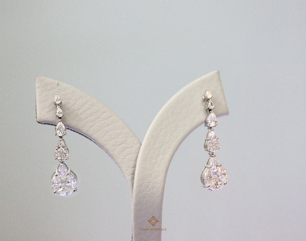 Drops diamond earrings