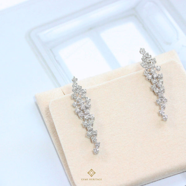 Starry night diamond earrings